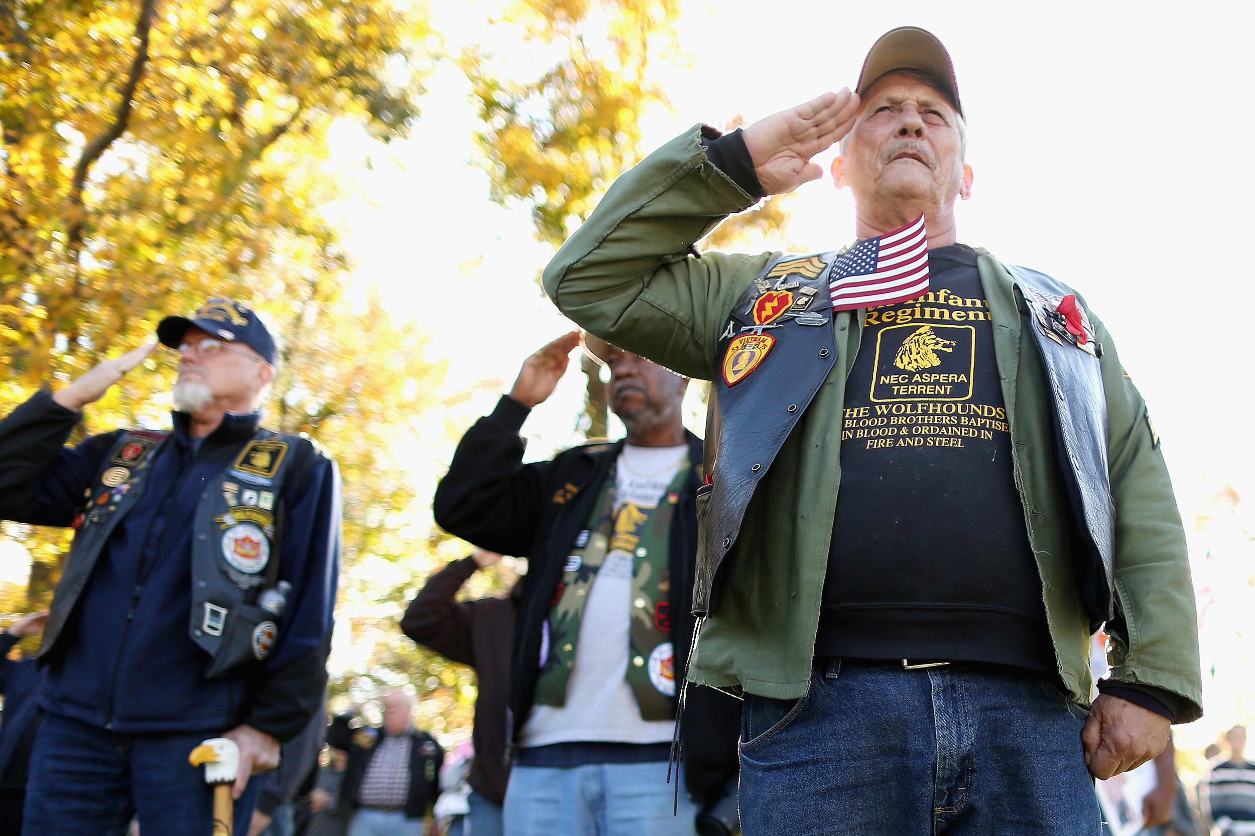Vietnam Veterans Honor The Fallen On Veterans Day