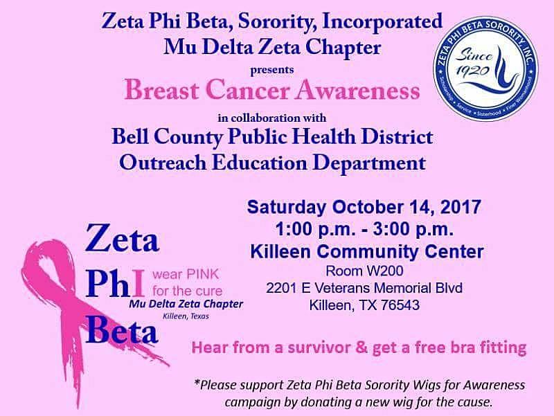 Zeta Phi Beta Breast Cancer Awareness