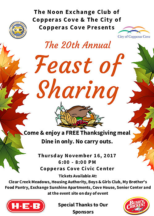 Feast of Sharing Flyer 2017